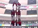 Human tower collapses.
