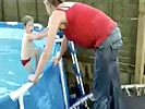 Mother cracks spine in pool jump fail
