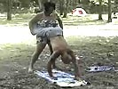 Redneck mating ritual. She actually got pregnant from that wierd dance.