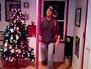 Drunk guy pole dancing fail.