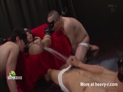 Bdsm fetish funnel in mouth facesitting