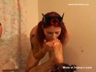 Brazil vomit foot fetish