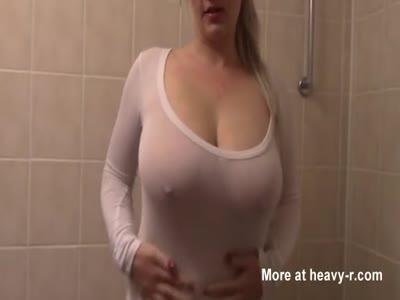 Girl cumming in shower gif